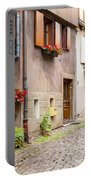 Half-timbered House Of Eguisheim, Alsace, France Portable Battery Charger