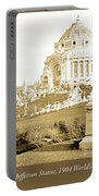 1904 Worlds Fair, Festival Hall, Jefferson Statue Portable Battery Charger