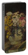 A Vase Of Wild Flowers Portable Battery Charger