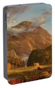 A View Of The Mountain Pass Called The Notch Of The White Mountains, Crawford Notch Portable Battery Charger