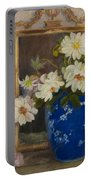 Abbott Graves 1859-1936 Flowers In A Blue Vase Portable Battery Charger