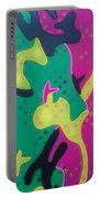 Abstract Camo Portable Battery Charger