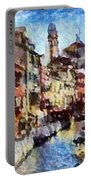 Abstract Canal Scene In Venice L A S Portable Battery Charger