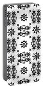 Abstract Ethnic Seamless Floral Pattern Design Portable Battery Charger