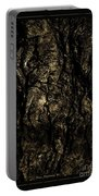 Abstract Gold And Black Texture Portable Battery Charger