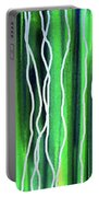 Abstract Lines On Green Portable Battery Charger