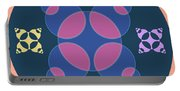 Abstract Mandala Pink, Dark Blue And Cyan Pattern For Home Decoration Portable Battery Charger