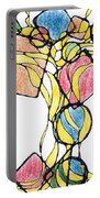 Abstract Pencil Pattern Portable Battery Charger