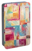 Abstract Pop Art Style Unique Pastel Painting Contemporary Art By Megan Duncanson Portable Battery Charger