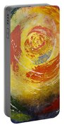 Abstract Rose Portable Battery Charger