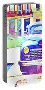Abstract Watercolor - Havana Cuba Classic Car IIi Portable Battery Charger