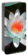 Abstract Waterlily Portable Battery Charger