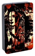 Abstract Woman Portable Battery Charger
