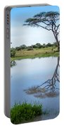 Acacia Tree Reflection Portable Battery Charger
