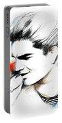 Adam Lambert Portable Battery Charger by Lin Petershagen