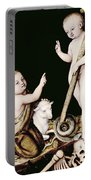 Adoration Of The Child Jesus By St John The Baptist Portable Battery Charger