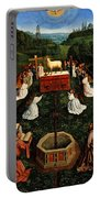 Adoration Of The Mystic Lamb Portable Battery Charger