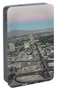 Aerial View Of Las Vegas City Portable Battery Charger