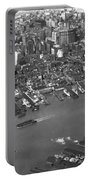 Aerial View Of Lower Manhattan Portable Battery Charger