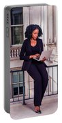 African American Businesswoman Working In New York Portable Battery Charger
