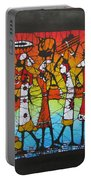 African Woman Carrying On Head Portable Battery Charger