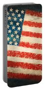 America Flag Portable Battery Charger by Setsiri Silapasuwanchai