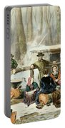 American Forest Scene Maple Sugaring Portable Battery Charger