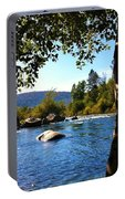 American River Through The Trees Portable Battery Charger