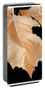 American Sycamore Leaf And Leaf Shadow Portable Battery Charger