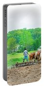 Amish Boy Disking Portable Battery Charger