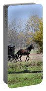 Amish Buggy Late Fall Portable Battery Charger