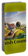 Amish Country T Shirt - Appalachian Blackberry Patch Country Farm Landscape Portable Battery Charger