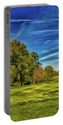 An Autumn Golf Day Portable Battery Charger