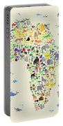 Animal Map Of Africa For Children And Kids Portable Battery Charger
