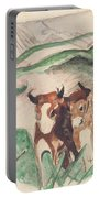 Animals In A Landscape Portable Battery Charger