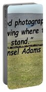 Ansel Adams Quote Portable Battery Charger