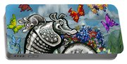 Armadillos Bluebonnets And Butterflies Portable Battery Charger