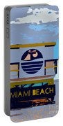 Art Deco Lifeguard Stand Portable Battery Charger