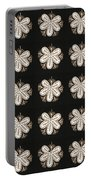 Artistic Sparkle Floral Black And White Graphic Art Very Elegant One Of A Kind Work That Will Show G Portable Battery Charger
