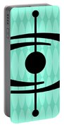 Atomic Shape 1 On Aqua Portable Battery Charger