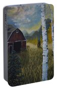 Autumn Red Barn  Portable Battery Charger