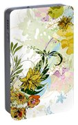 Autumn Sunflower Digital Illustration Portable Battery Charger
