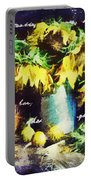 Autumn Sunflowers Portable Battery Charger