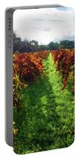 Autumn Vineyard In The Morning  Portable Battery Charger