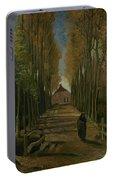 Avenue Of Poplars In Autumn Nuenen, October 1884 Vincent Van Gogh 1853 - 1890 Portable Battery Charger