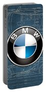 B M W 3 D Badge Over B M W I8 Blueprint  Portable Battery Charger