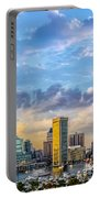 Baltimore Harbor Skyline Portable Battery Charger