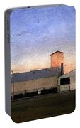 Barn At Sunrise Portable Battery Charger