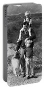 Barry Sadler With Sons And Family Collie Tucson Arizona 1971 Portable Battery Charger