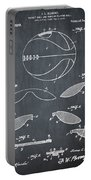 Basketball Patent 1916 Black Portable Battery Charger
